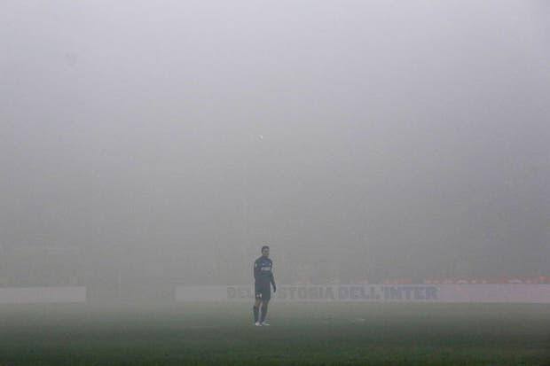 ¡Piedra libre para el Pupi atrás de la niebla!.  Foto:Reuters