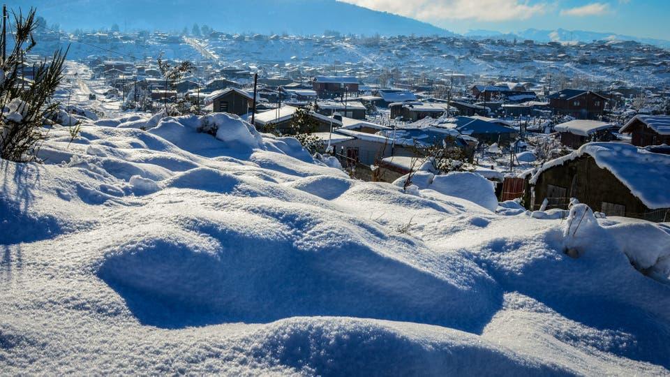 Las nevadas en San Carlos de Bariloche. Foto: DyN / Diario Río Negro/ Chino Leiva