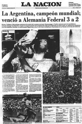 La tapa de LA NACION del 30 de junio de 1986