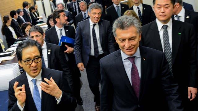 Macri expuso esta mañana en el Foro Económico Japón - Argentina en el Hotel The Prince Park Tower Tokyo
