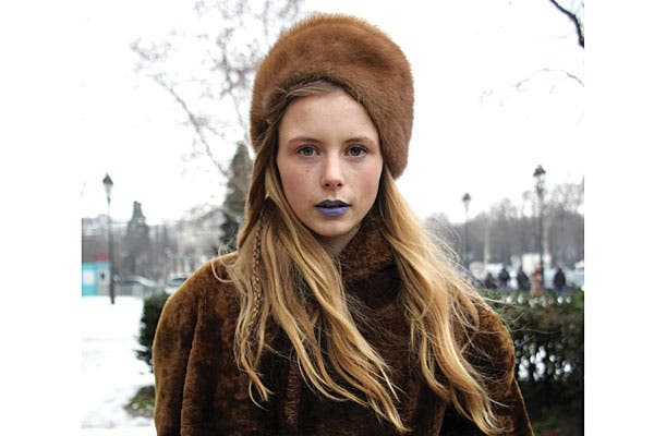 ¿Te animás a los labios azules?. Foto: Agustina Garay Schang (desde París)