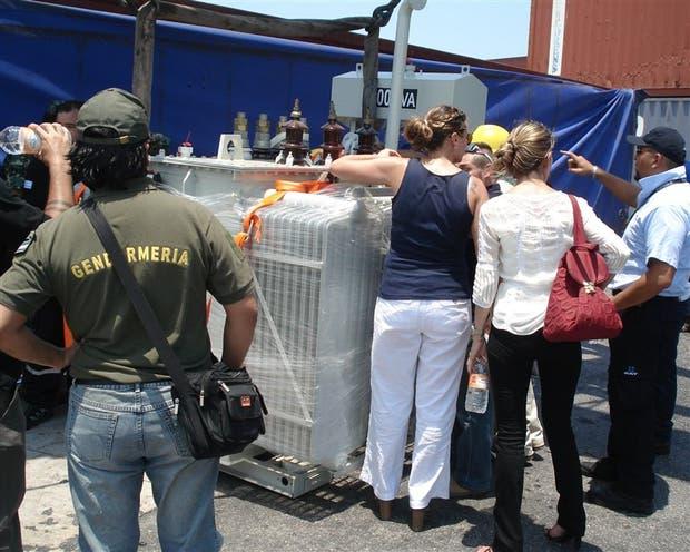 De mochila roja, Arroyo Salgado en una inspección