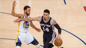 Stephen Curry y Danny Green