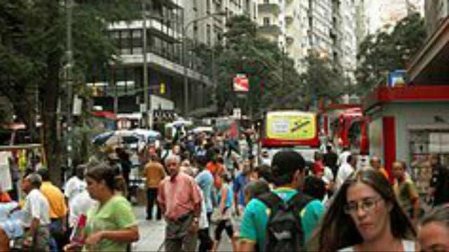 Las calles de Porto Alegre, en el sur de Brasil