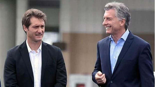 Macri y Guillermo Barros Schelotto, en abril