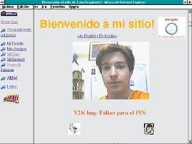 Esta es la página de Luis Augusto Raggiardo, un joven de 17 años con las inquietudes típicas de los adolescentes y la voluntad para comunicarse a través de Internet