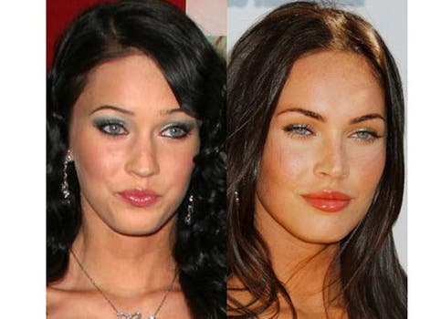Cambiadísima: Megan Fox se hizo varios retoques en su rostro para hacerlo más felino. Foto: /www.dailycognition.com