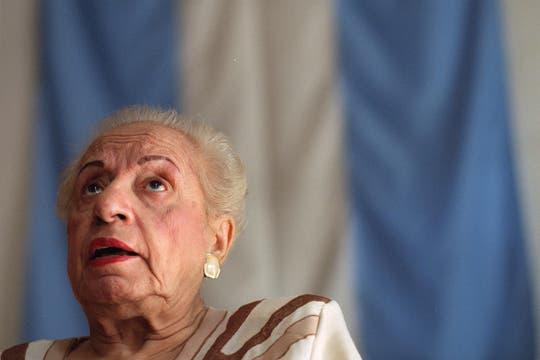 La histórica dirigente radical, que falleció a los 99 años, se convirtió en ícono político y un ejemplo de ética. Foto: Archivo / lanacion.com