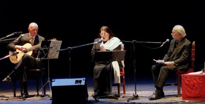 """Los """"miembros de honor"""" de la fundación fueron José Saramago, Augusto Roa Bastos, Eduardo Falú y Mercedes Sosa. Foto: Archivo"""