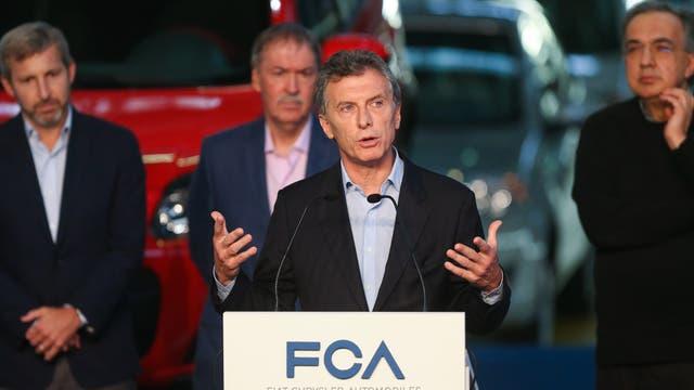 Mauricio Macri anunció una inversión de 500 millones de dólares en Fiat