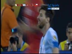 Amarilla a Messi
