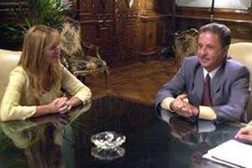 Gabriela Arias Uriburu se reunió con el presidente Duhalde