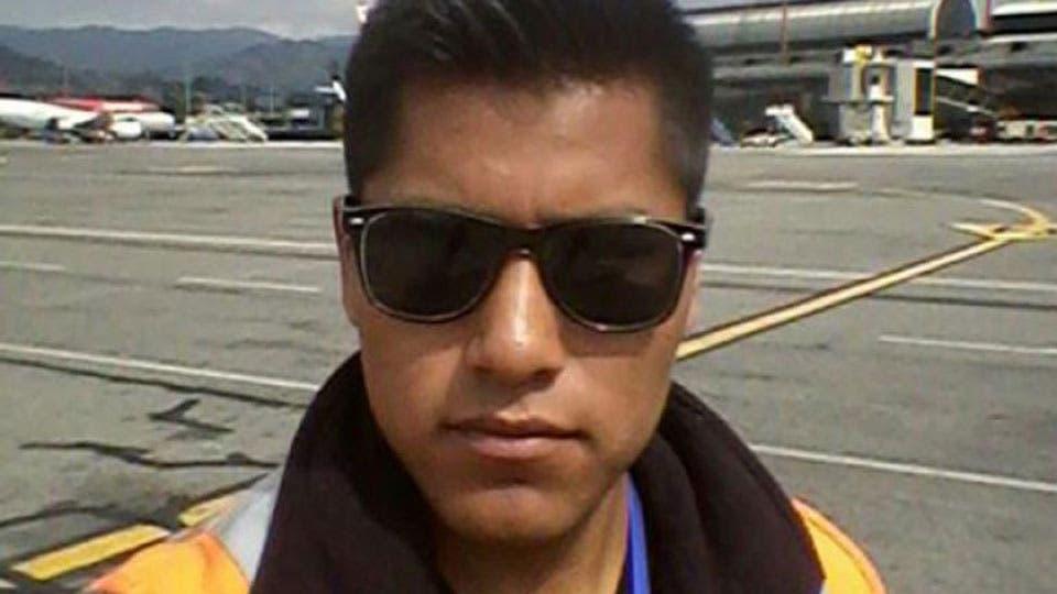 Erwin Tumiri, el técnico del avión que sobrevivió foto: Archivo