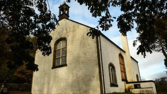 Una iglesia en la isla de Ulva