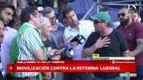 La palabra de Hugo Godoy y Rubén Sobrero durante la movilización