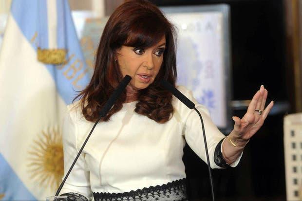 Cristina habla en Casa Rosada