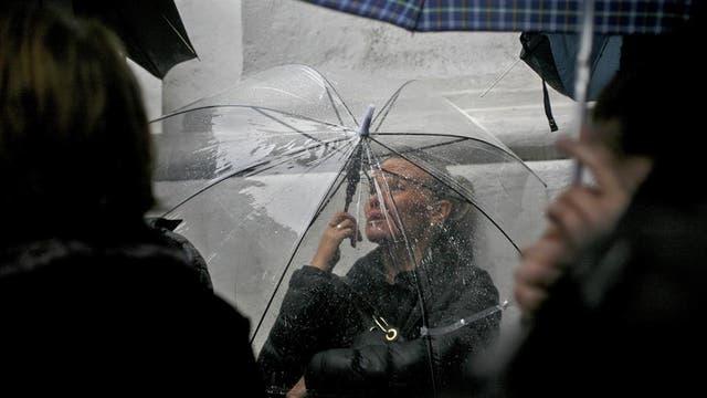 """Marcha """"Ni una menos"""" en Plaza de Mayo, 19 de octubre 2016. Esta fotografía de Mariana Araujo se exhibe en la muestra anual de Fotoperiodismo Argentino"""