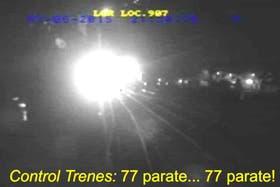El video que anticipa el choque de trenes en Temperley