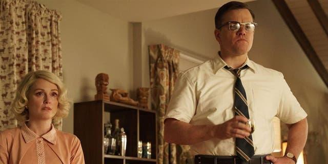 Julianne Moore y Matt Damon como en Suburbicon: bienvenidos al paraíso