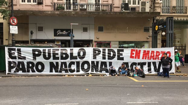 Protesta de organizaciones sociales — Argentina