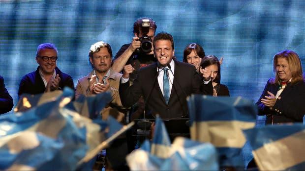 Sergio Massa, el domingo pasado, tras el cierre de las elecciones