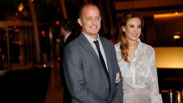 El intendente de Lomás, Martín Insaurralde, junto a su esposa, la modelo y vedette, Jésica Cirio. Foto: Fabián Marelli
