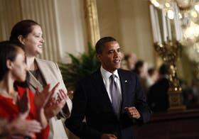 Obama lanzó ayer su propuesta fiscal en la Sala Este de la Casa Blanca