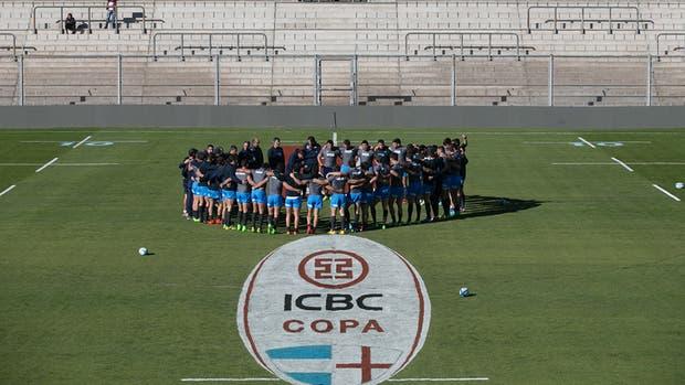Los Pumas participaron del Captain''s Run, en el estadio Bicentenario