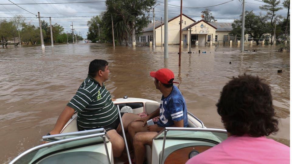 Casi todo el pueblo debió ser evacuado. Foto: LA NACION / Fernando Font