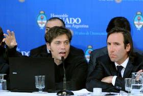 El viceministro de Economía, Axel Kicillof, y el ministro Hernán Lorenzino