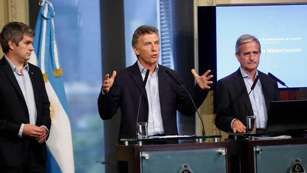 Macri, con Peña e Ibarra