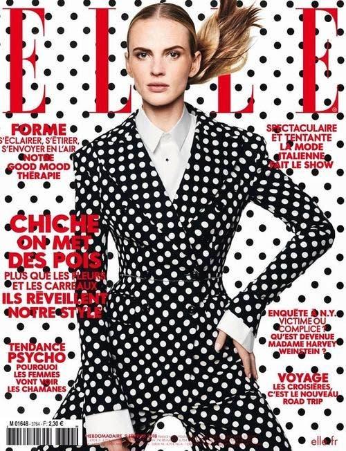 La tapa de la revista Elle francesa de febrero 2018