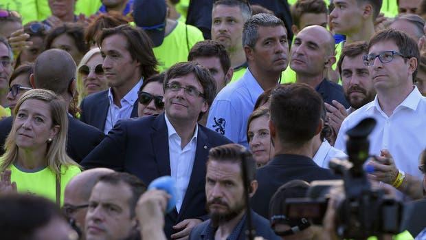 Puigdemont, el líder catalán que desafía la unidad de España, durante la Diada