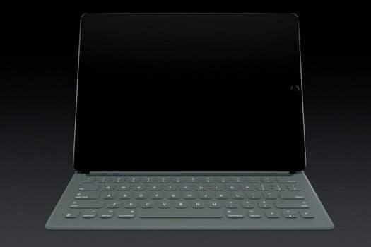 Apple presentó un teclado para el iPad Pro.
