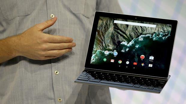 Una vista de la Pixel C, un equipo desarrollado por Google, equipado con Chrome OS y lanzado en 2015