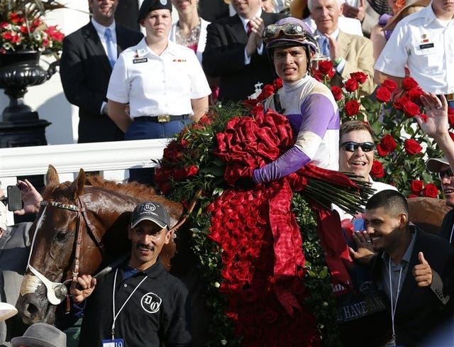 Tras ganar el Kentucky Derby, la denominada carrera de las rosas