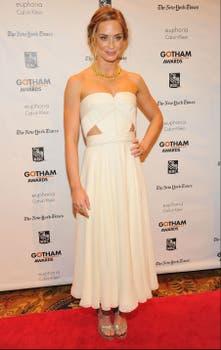 Emily Blunt asistió a la misma ceremonia que Marion. ¿Qué opinan de su look? ¿Aprueban el vestido?. Foto: AFP