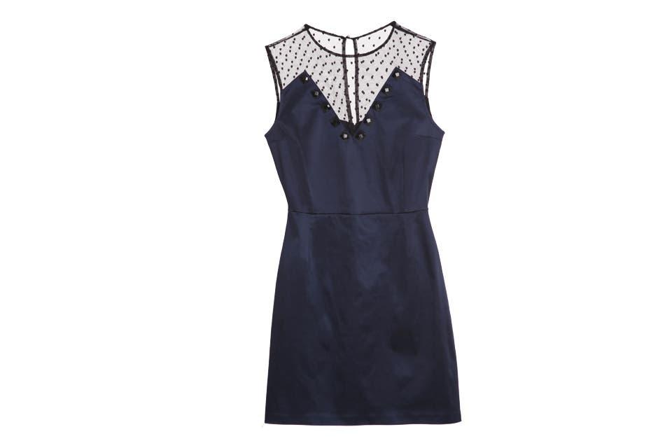 Vestido con encaje (Uma, $1180).