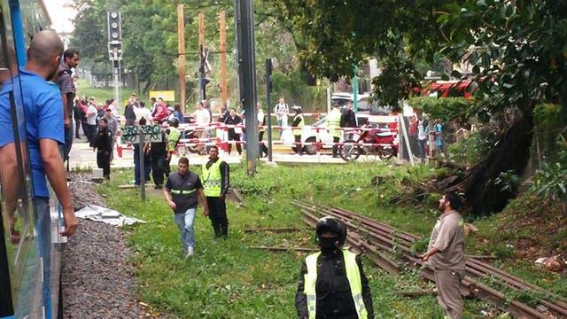 Tren de la línea Mitre detenido por un accidente entre las estaciones Vicente López y Rivadavia