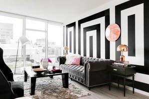 Propuestas para decorar tu living en blanco y negro