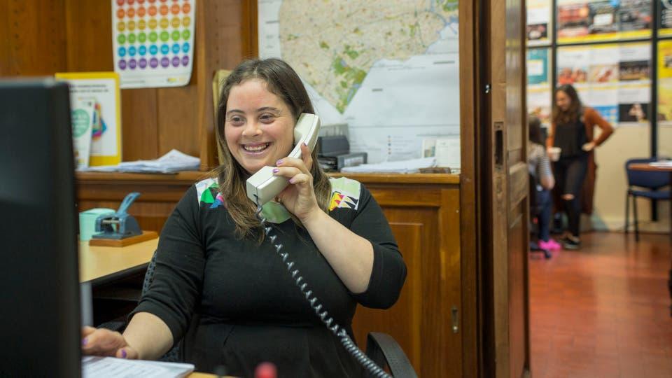 Mariana Casabella en su lugar de trabajo
