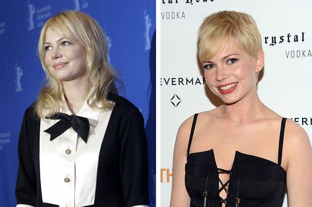 Michelle Williams, siempre rubia se cortó el pelo muy corto. Foto: celebritieswonder.net