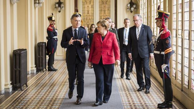 Macri y Merkel parecieron encontrar una buena sintonía en los encuentros bilaterales
