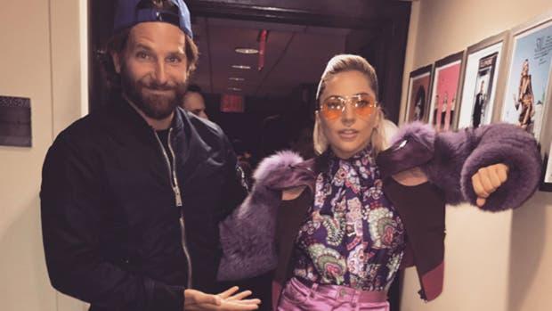 Bradley y Lady GaGa en el rodaje de Nace una estrella
