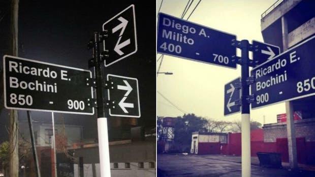 Duro 2 dias: se afanaron el cartel de la calle Milito