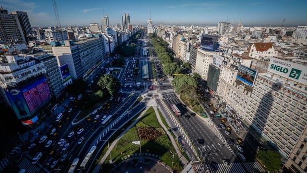Vista de la ciudad de Buenos Aires desde el Obelisco porteño