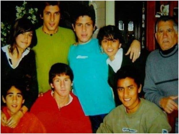 Roccuzzo, Messi y los hermano Scaglia