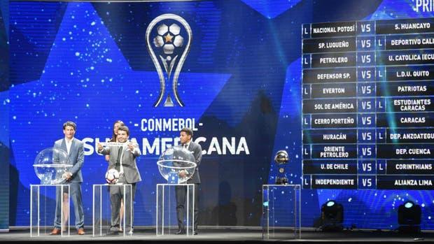 El sorteo de la Copa Sudamericana, en Luque