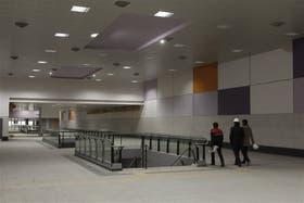 La estación Correo Central; todo listo, menos las escaleras mecánicas y los ascensores que todavía no fueron licitados