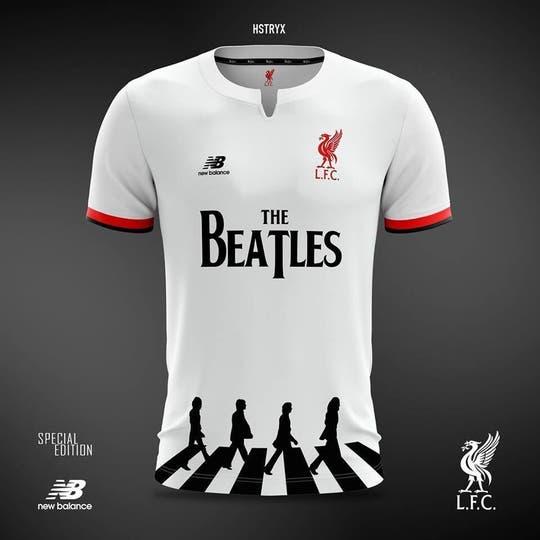 La camiseta de Liverpool en honor a The Beatles